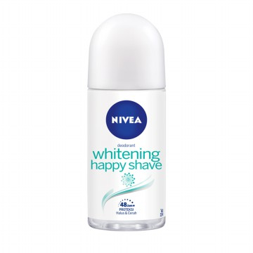 NIVEA Deodorant Whitening Happy Shave Roll On 50ml
