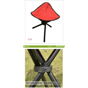 Kursi Lipat Memancing Folding Three Legged Beach Stool Chair Blue