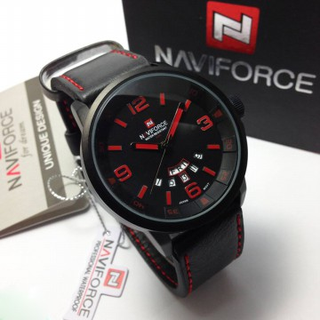 Naviforce Jam Tangan Pria NF9028 Leather Original