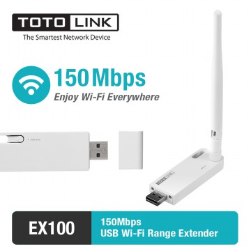 Wifi Extender/Repeater USB 150Mbps - TOTOLINK EX100