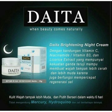 DAITA PAKET REGULAR ( DAY CREAM + NIGHT CREAM + FACIAL FOAM) ORIGINAL