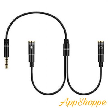 Splitter Audio 3.5mm Jack to Earphone Mic 2in1 Stereo Cable