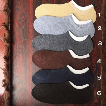 (1Set = 3 Pasang) Kaos Kaki Invisible Socks Medium - Ankle Cut [Random Color]