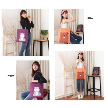 TC16 Civeto Beauty Printed Canvas Tote Bag / Tas Selempang