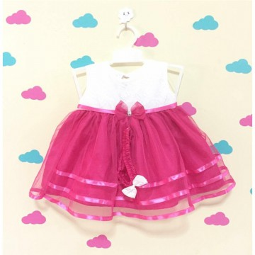 Dress Pesta Bayi Tile - Newborn - 12M - Banyak Warna