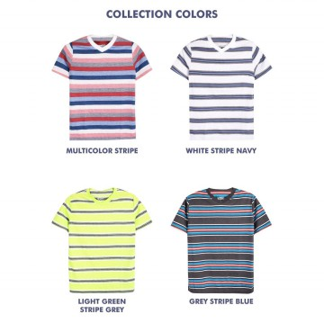 Boys Junior Short Sleeve V-Neck T-Shirts Available In 5 Colors