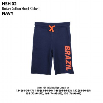 Branded Cotton Short for Kids/Celana Pendek Anak (HSH 02) | 8 - 14 Years + | Cotton+Polyester