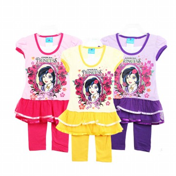 [PRINCESS SET] Baju Stelan Anak Princess - Baju Set Anak - Baju Princess - Ready Limited Stock!!