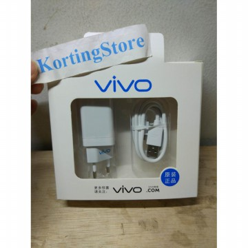 Charger VIVO VOOC FAST CHARGING Adaptor 2 Ampere 2 Port Usb ORI 99%