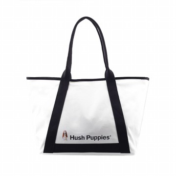 Hush Puppies Tas Totebag Canvas Detail Puppies - White - HP2903WH