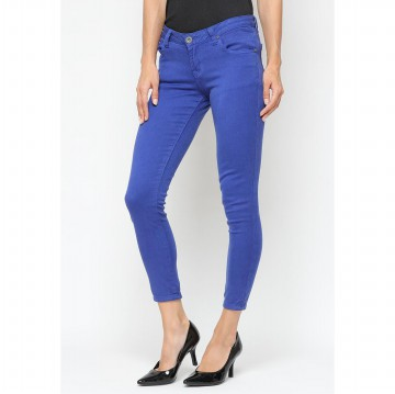 Mobile Power Ladies Basic Skinny Long Pants - Blue Z2218S
