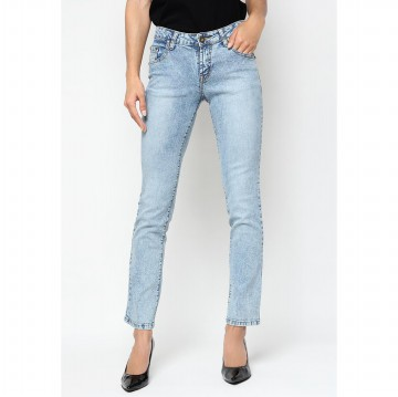Mobile Power Ladies Straight Cut Jeans - Light Blue I1258L