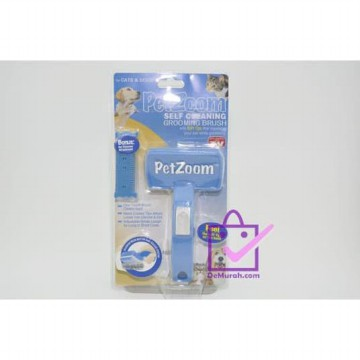 Pet Zoom Self Cleaning Grooming Brush / Sisir Hewan PetZoom
