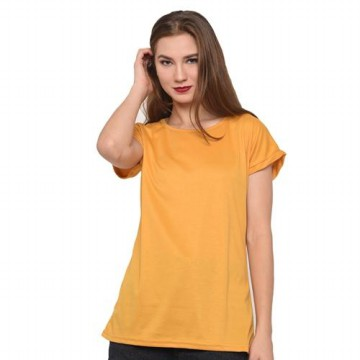 LEMONE Tumblr Tee T-shirt Kaos Cewe Catton TC Premium Baju Wanita 10100002 Kuning M fit to L