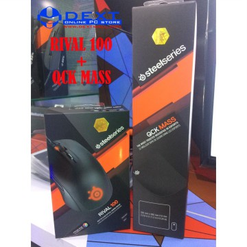 Bundle SteelSeries Rival 100 + Qck Mass