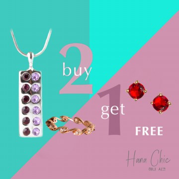 [BUY 2 GET 1 FREE] HanaChic Purple Light Necklace