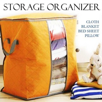 Bamboo Fiber Storage Bag / Clothing Storage Bag / Model Berdiri 47.5 x 28 x 50 cm