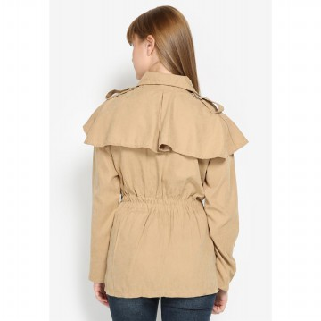 Mobile Power Ladies Basic Parka Jacket - Cream Brown L7112