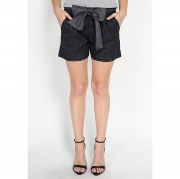 Mobile Power Ladies Stripe Short Pants Ribbon - Dark Blue MR501
