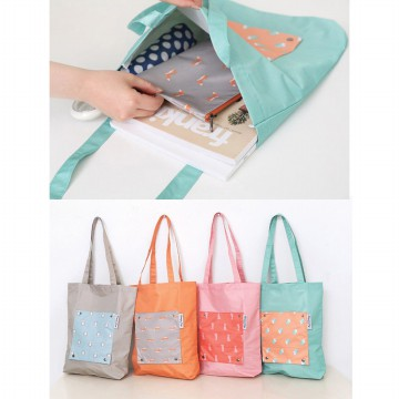 Tas Belanja Tebal Anti Basah Korean Weekeight Folding Tote Bag / Tas Serbaguna Korea #noplastic