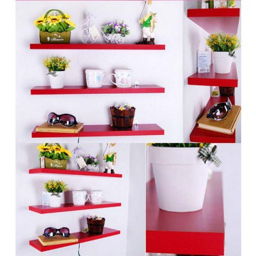 StarHome Rak Buku Melayang -  Rak Dinding 1 Set isi 3 Pc - Set Wall Floating Shelves - Simple