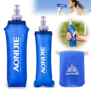 Botol Minum Lipat Camping Mountaineering Drinking Water Bag 250ml - Blue