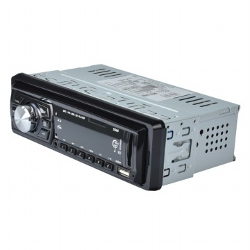 Audio Player Mobil 12V 1Din FM Receiver AUX USB SD Slot - Black