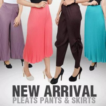 New! Best Seller Plisked Pants - 6 Colors - 6 Model - Good Quality - Celana Panjang - Celana Kulot - Midi Skirt - Rok Panjang- Celana balon