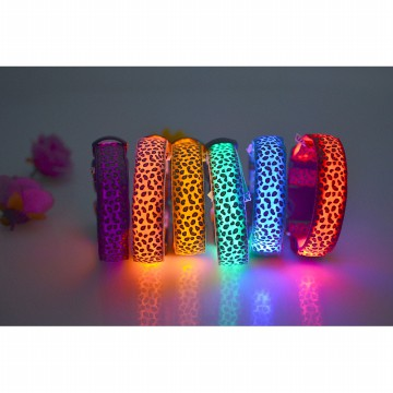 Kalung Collar Anjing Luminous LED Size L - Multi-Color