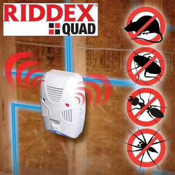 Riddex Quad | New Generation Riddex Plus | AS SEEN ON TV | Alat Pengusir Nyamuk Kecoak dan Tikus