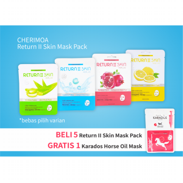 [Promo] 5 pcs Cherimoa Return II Skin Mask Pack