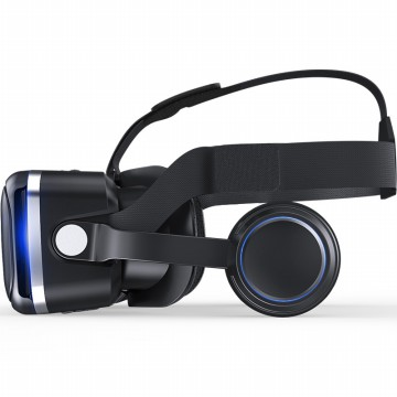 Shinecon 6.0 VR Box Virtual Reality dengan Headphone - Black