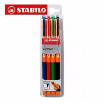 Stabilo Pen Warna Point Visco 4 pcs Kemasan Wallet