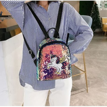 BP27 Tas Ransel Fantasia Unicorn Sequin Backpack