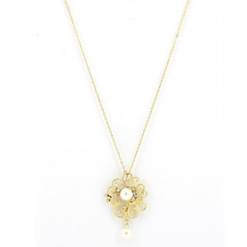 Sophie Paris Perhiasan Wanita Carna Necklace Gold-N00673G1