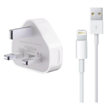 Adaptor Charger UK iphone Original 100% White