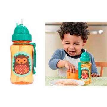 Bottle Character SkipHop with Straw 350mL | banyak motif | Botol Minum Anak