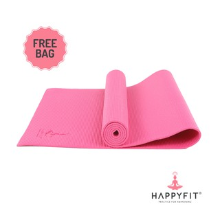 HAPPYFIT MATRAS YOGA 6MM HOT PINK (GRATIS TAS)/PVC MAT(FREE BAG)