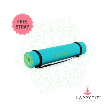 HAPPYFIT TPE ECO FRIENDLY YOGA MAT - TOSCA /MATRAS ANTI SLIP PREMIUM - FREE STRAP