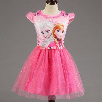 Dress Anak Disney Frozen Size 7T - Pink