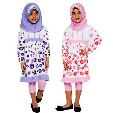 Gamis Anak Perempuan 4 You - 3Y - 5Y - Sweet Flowers Long Dress