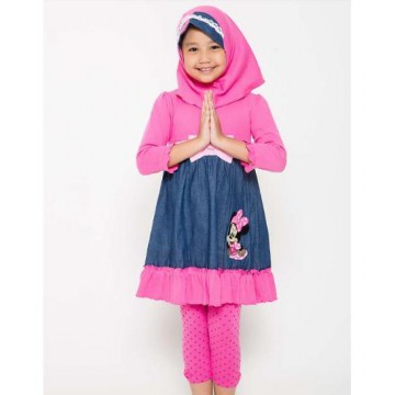 Set Gamis Anak Perempuan 4 You - 2Y - 7Y - With Hijab