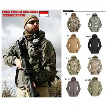 Jaket Militer TAD Shark Skin Soft Shell Import Branded ESDY / Jaket Army / Jaket Waterproof