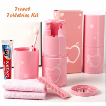Travel Toiletries Kit Set Tempat Sabun Shampoo Sikat Gigi Travelling