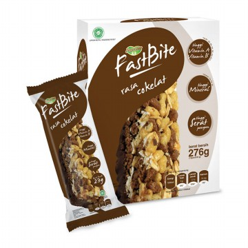 Prosana Fastbite Cereal Bar Rasa Cokelat (Box @12 pcs)