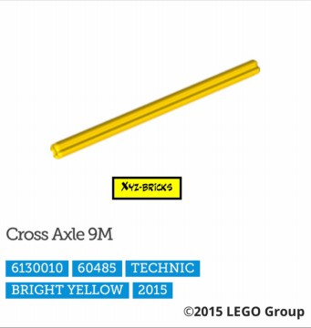 LEGO PARTS 6130010 - Technic Cross Axle 9M Bright Yellow