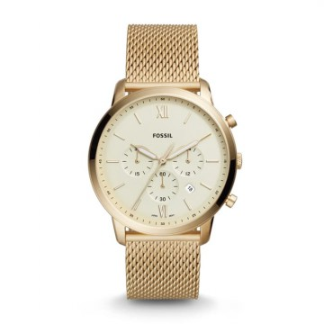 Fossil Pria Neutra Chronograph Gold Tone Stainless Steel FS5409