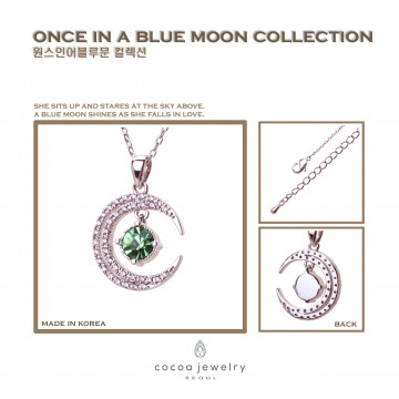 Korea Cocoa Jewelry Unblock Rose Gold Moon - Kalung Rose Gold & Gold