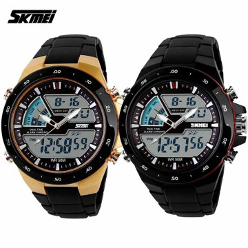 Jam Tangan Pria /SK-MEI Casio-Men / Digital LED + Analog / AD1016
