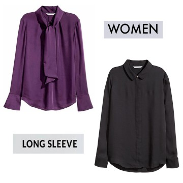 Best Seller Women Silk Longsleeve blouse